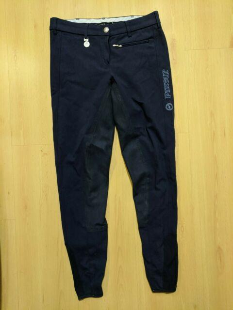 Pikeur Lucinda Navy Made In Germany Full Seat Breeches Us 26
