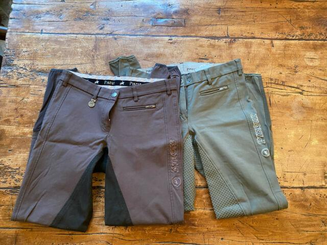 Pikeur Lucinda Full Seat Breeches 28l Lot Of 2 Pre-owned V Good C