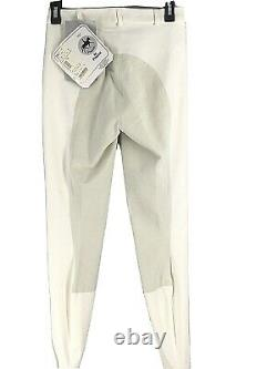 Pikeur Womens Breeches Pants Size 76 26L NWT White Equestrian Full Seat Leather