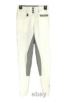 Pikeur Womens Breeches Pants Size 76 26L NWT White/Gray Equestrian Full Seat