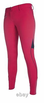 Pro Team Ladies Equestrian Neon Sports Horse Riding Silicone Full Seat Breeches