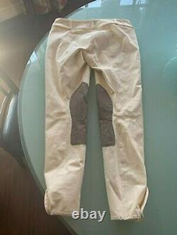 Rare Tailored Sportsman Trophy Hunter 26R Breeches Front Zip Low Rise YELLOW