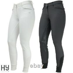 Roka Crystal Breeches by Hy Equestrian Subtle sparkle Full Silicon Seat