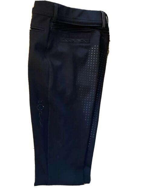 Samshield Diane Full Seat Breeches 36 Black Pre Owned Excellent Condition