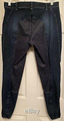 Used Pikeur denim full seat breeches, size 32L