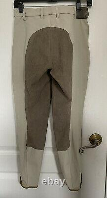 Womens 38 (US 26) Pikeur Suede Full Seat Breeches Horse Riding Pants Beige