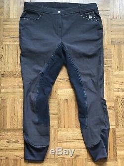 Womens Cavallo Corvina Breeches Grey, Full seat US Size 34L New with tags