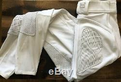 Womens FITS Full Seat PerforMAX breeches White- S